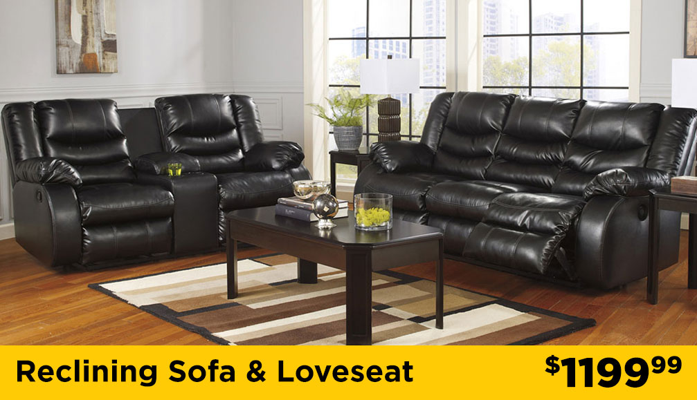 reclining living room sectional
